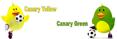 Canary Yellow and Canary Green